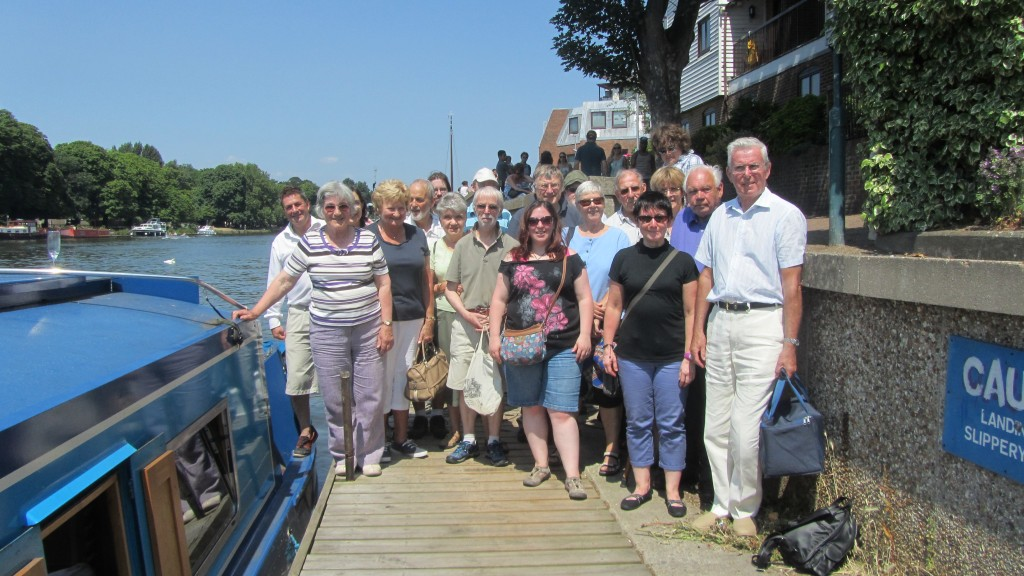 Ringers' boat trip on the Thames - July 2013