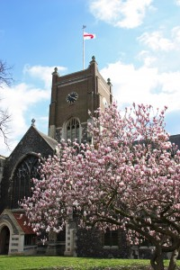 All Saints Church in Spring