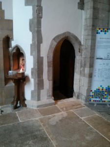 Entrance to bell ringing chamber in the crossing