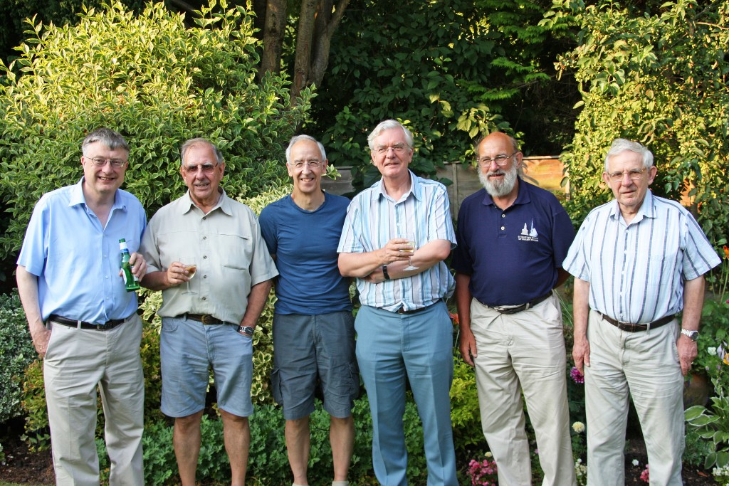 The most recent 6 Kingston tower captains at the 2014 barbecue